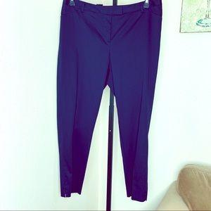 Laundry by Shelli Segal navy slim career pants 18W